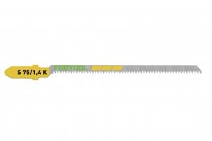 204267 Пильное полотно для лобзика, зубья с косой заточкой для криволинейного резания S 75/1,4 K/5шт