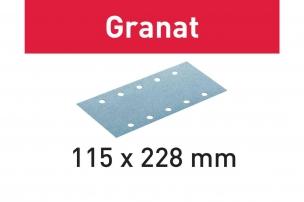 Шлифовальные листы STF 115x228 P100 GR/100 Granat для RS 200, RS 2, RS 100, RS 100 C, RS 1, RS 1 C, HSK 115 x 226