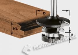 фреза контр-профильная гребневая HW с хвостовиком 8 мм HW S8 D43 21 A KL