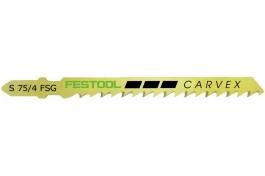 204317 Пилки для лобзика, разведённые зубья для быстрого, точного углового распила компл из 20 шт. S 75/4 FSG 20X