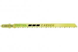 Пилки для лобзика, конически зашлифованные для быстрого, точного углового распила, компл. из 5 шт. S 105/4 FSG 5X