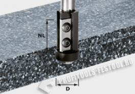 Фрезы пригоночные, сменные ножи HW, хв. 12 мм HW S12 D21 30WM