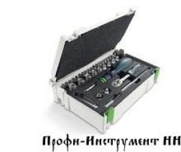 Комплект насадок монтажный в MINI Systainer CE-RA-Set