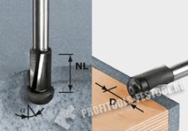 Пригоночная фреза HW, хвостовик 12 мм HW D19 25 ss S12