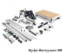575309 Пила торцовочная с механизмом протяжки, комплект KS 120 REB-Set-MFT Festool
