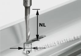 фреза для обработки сплавов из алюминия HS с хвостовиком 8 мм HS S8 D5 NL23