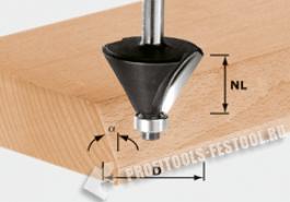 Фреза для профилирования фасок HW с хвостовиком 8 мм HW S8 D38,5 23 30°