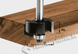 Фреза для выборки четверти HW с хвостовиком 8 мм HW S8 D31,7 NL 12,7