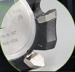 Фреза пазовая V-образная HW 118x14-90° Alu